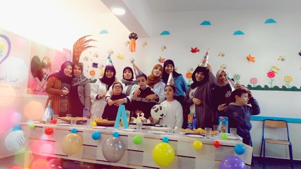 """الناظور + صور: جمعية ايمن للتوحد تحتفي بعيد ميلاد احد اطفالها التوحديين""""ايمن"""""""