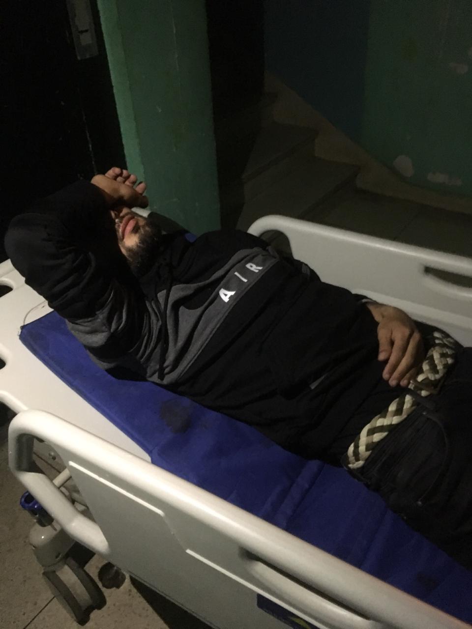 فيديو وصور : كابو التراس فيداين بالمستشفى الحسني بعد دهسه من طرف رئيس هلال الناظور