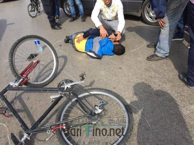 + صور :حادثة سير وسط الناظور و الضحية شاب يمتطي دراجة هوائية …